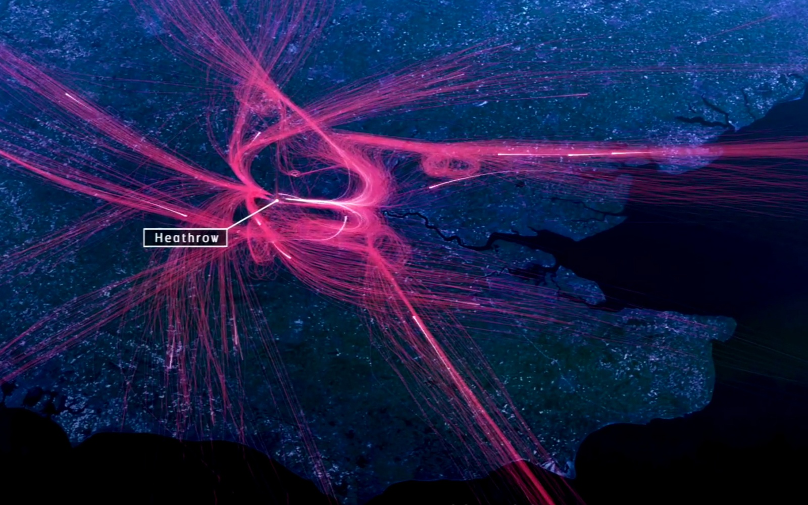 Visualizing 24 Hours Of London Flights