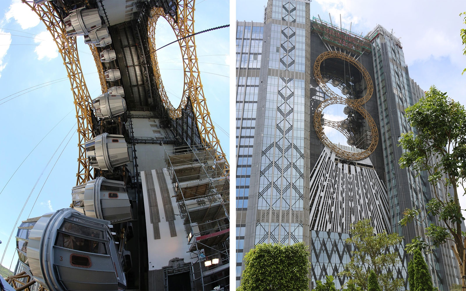 what is venn diagram images world s first figure eight ferris wheel nears completion in macau