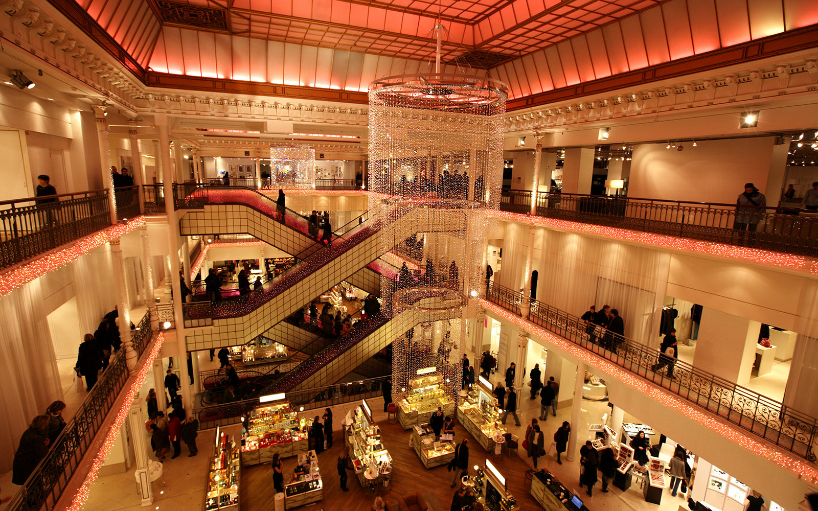 World s most spectacular department stores travel leisure - Le bon marche luminaires ...