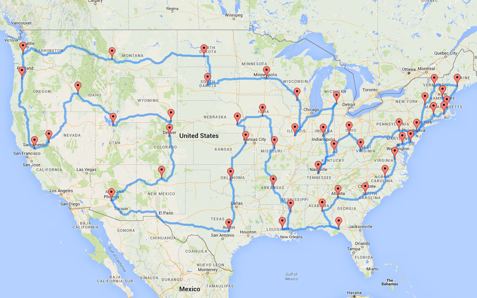 This Man Planned The Most Epic And Efficient Road Trip