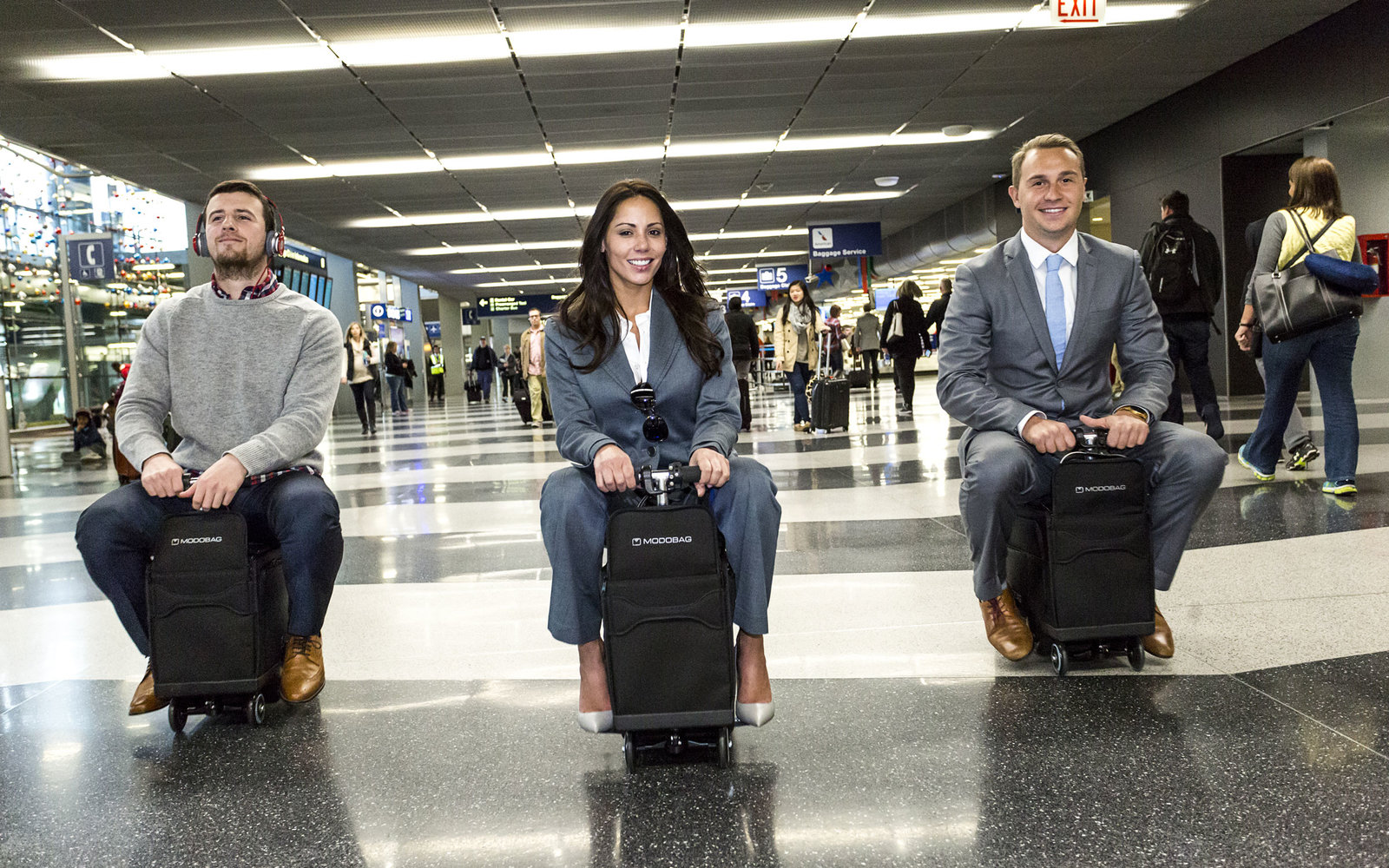 You can now ride your luggage around the airport