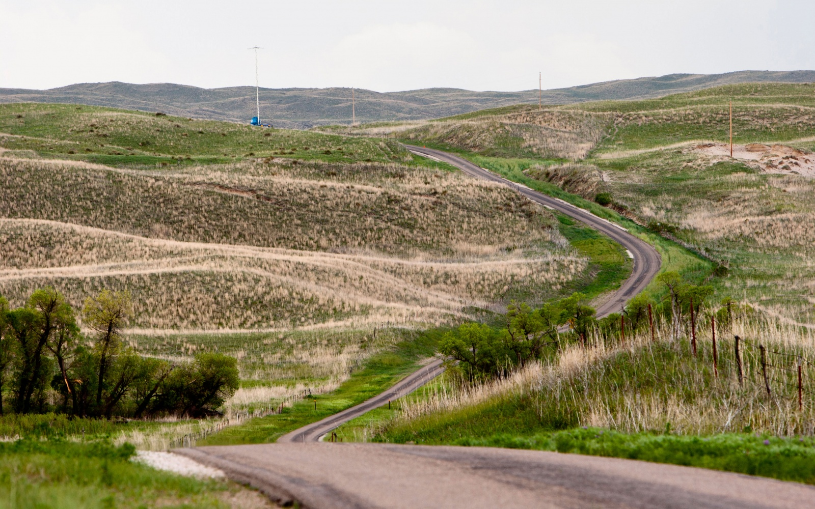 scenic winding Highway 2, Nebraska