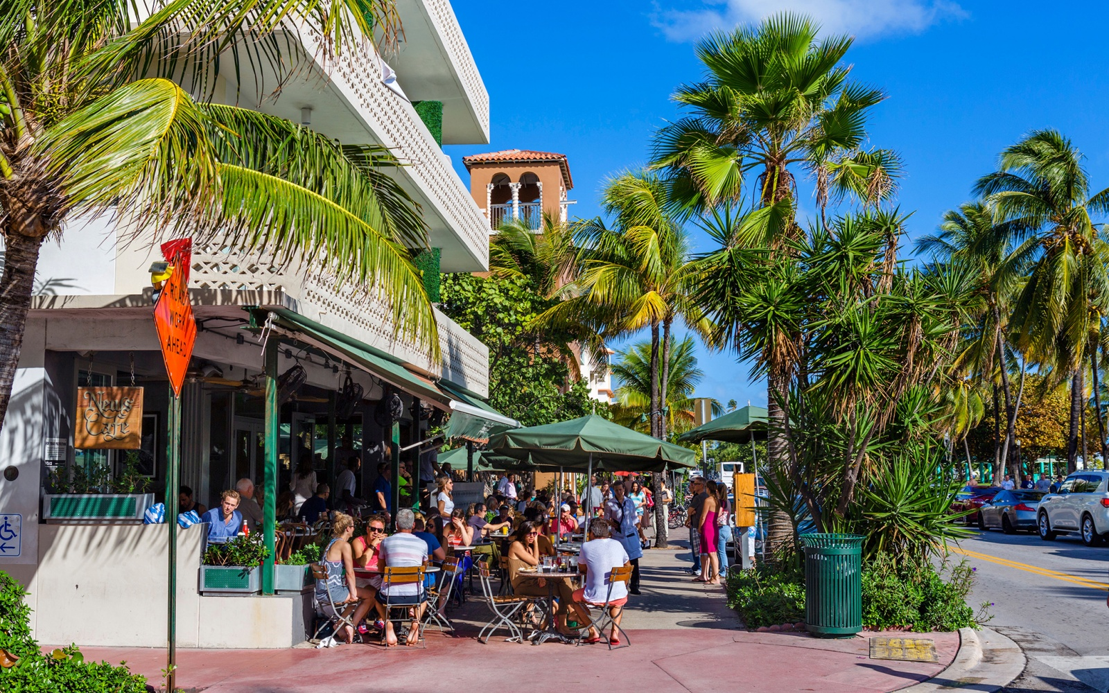 south beach sidewalk restaurant in Miami, FL