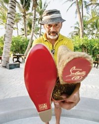 Christian Louboutin, Shoe Designer and Stylish Traveler