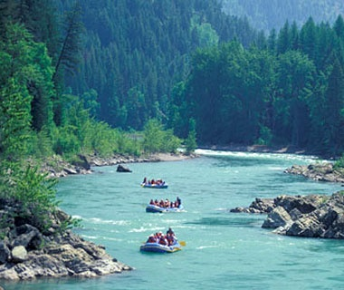 white water rafting in the Rockies Mountains