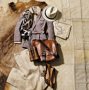 Style, clothes, safari, travel