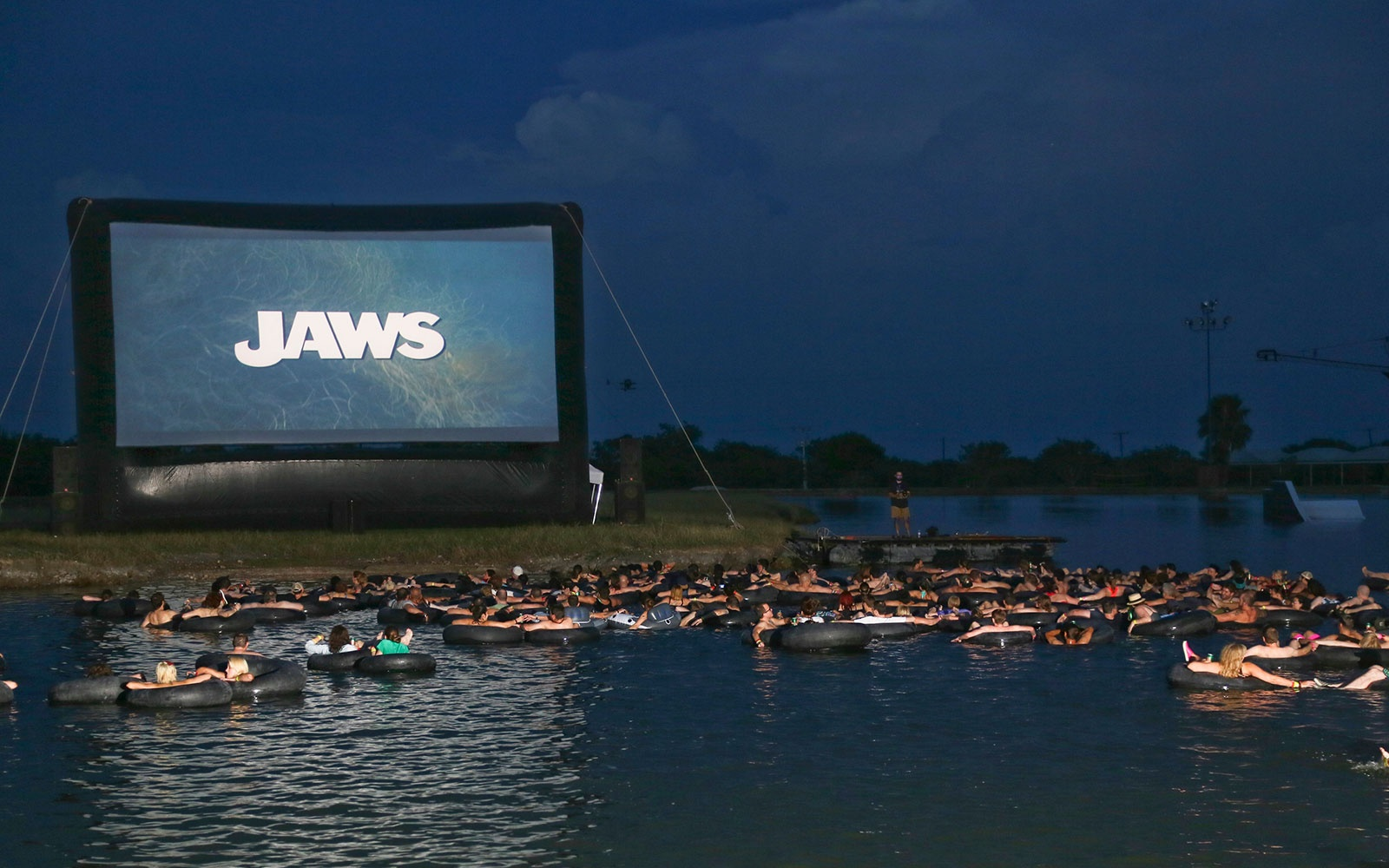 Watch Jaws While Floating On An Innertube In A Lake