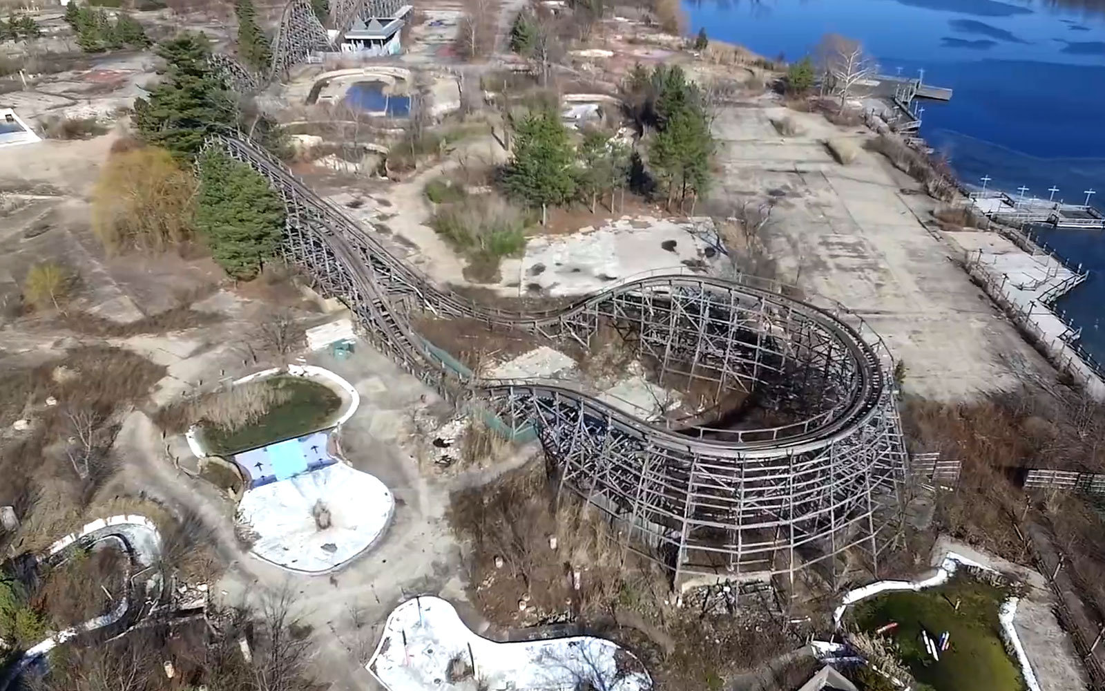 Tour The Abandoned Geauga Lake Amusement Park Via Drone