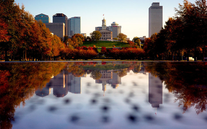 Nashville, Tennessee in fall