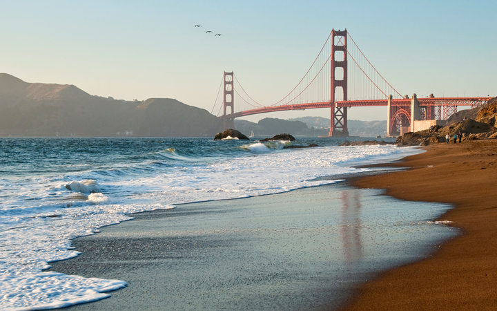 View of Golden Gate Bridge, San Francisco romantic cities