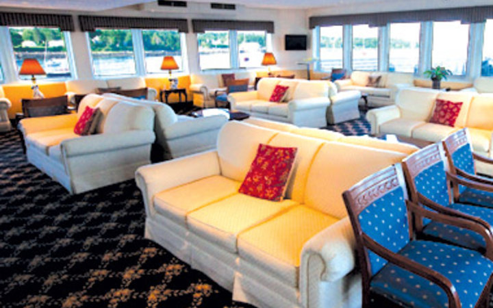 guest lounge aboard American Cruise Lines cruise ship