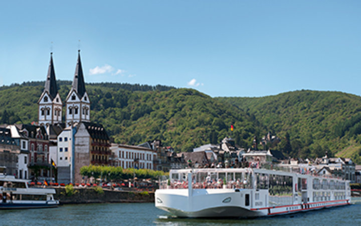 Viking River Cruises cruise ship on the river in Europe