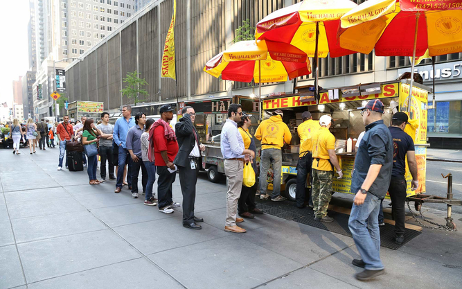 The Halal Guys food cart in Chicago
