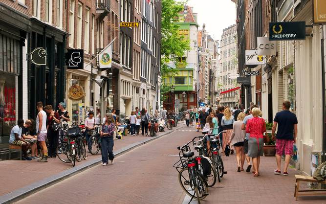 The Nine Streets Shopping Neighborhood in Amsterdam