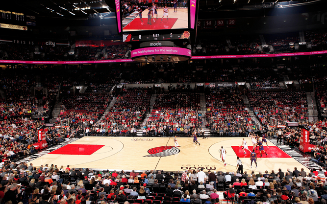 Portland Trail Blazers at the Moda Center