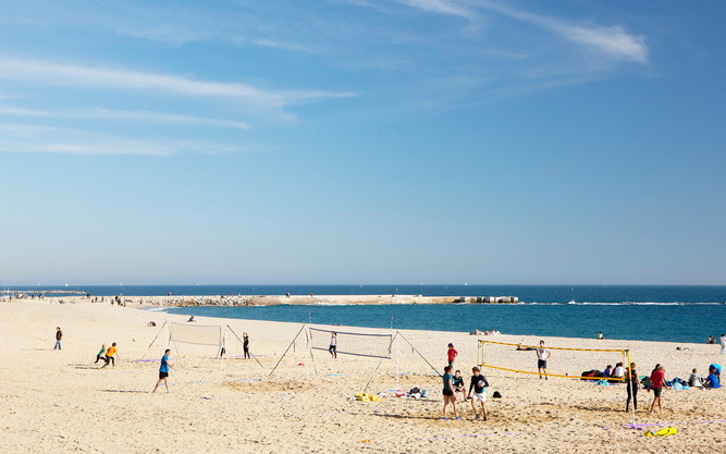 Bogatell Beach in Barcelona