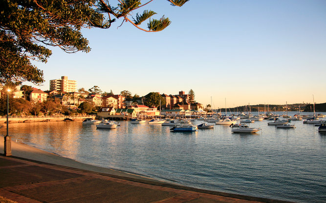 Sydney Harbor at Sunset Manly