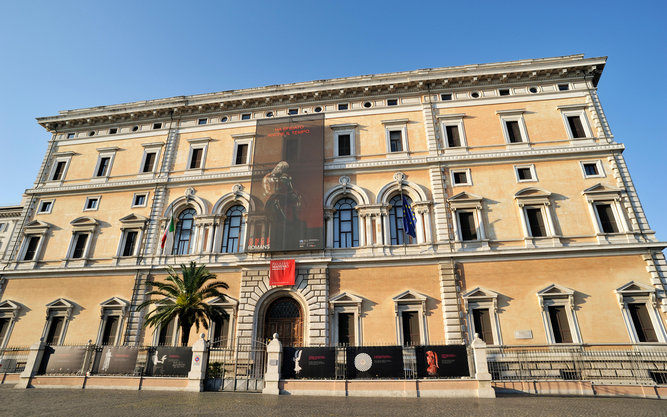 Palazzo Massimo Museum in Alamy