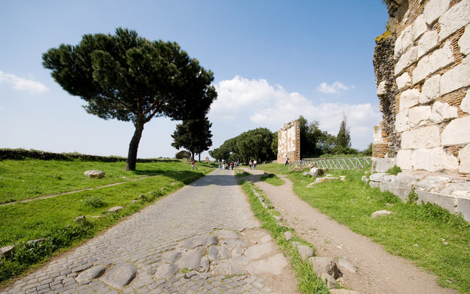 Via Appia Antica Road in Rome
