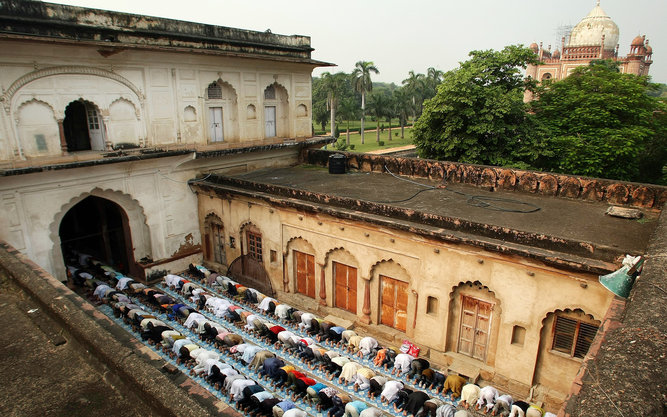 Eid al-Fitr Prayers at the Safdarjung Tomb Mosque in New Delhi