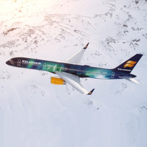 Icelandair Debuts a Northern Lights-Themed Plane