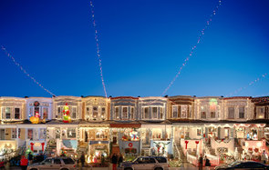 Residential Christmas Lights Over the top Maryland