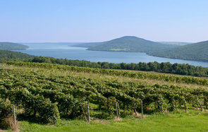 Canandaigua Lake in the Finger Lakes region of NYS