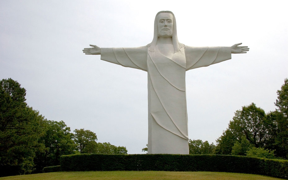 The Christ of the Ozarks Arkansas Weird Roadside Attractions America