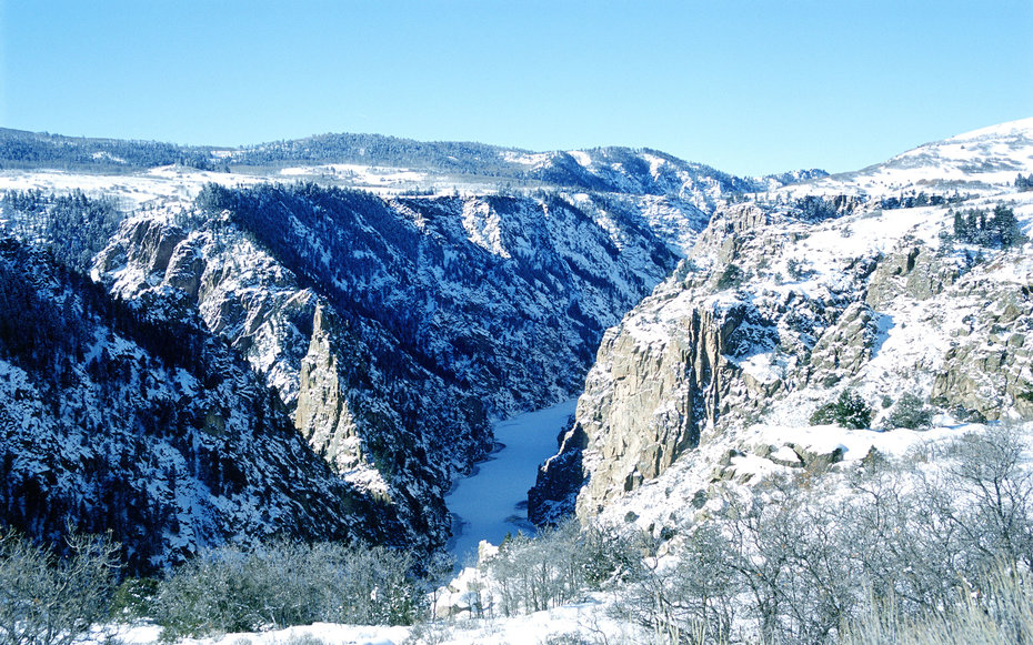 Black Canyon Gunnison National Park Colorado Winter Snow