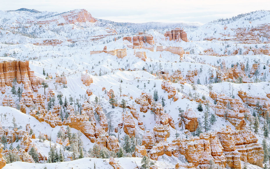 Bryce Canyon National Park Utah Winter Snow