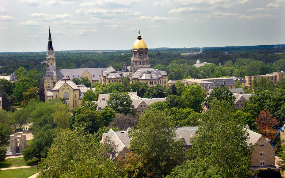 University Of Notre Dame South Bend In America S Most