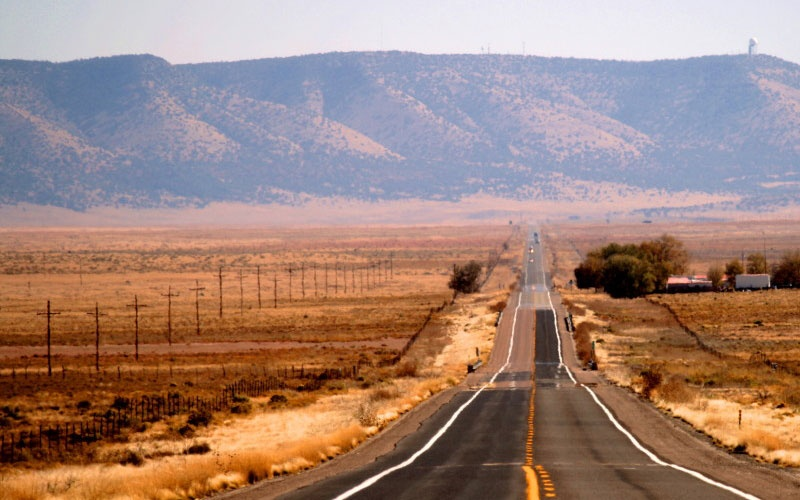 scenic desert view on Route 66
