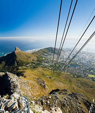 aerial view of destination Cape Town, South Africa