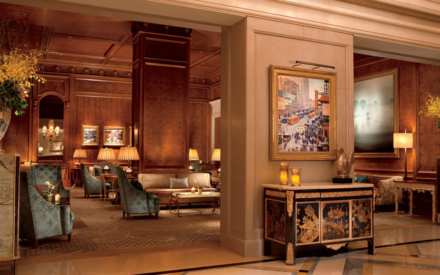 guest lobby at Ritz-Carlton New York in Central Park, New York