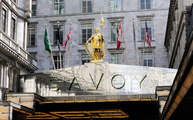 The Savoy Hotel in London