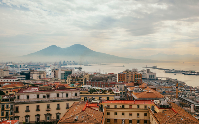 aerial view of Naples Italy
