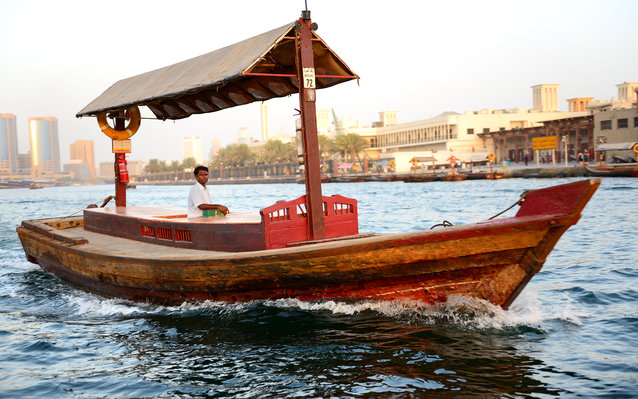 Abra boat in Dubai Creek in Dubai