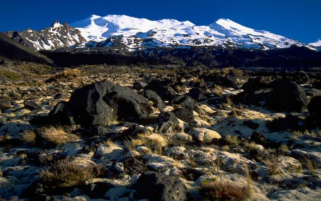 Mount Ruapehu and Lava Flow