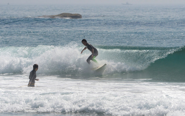 surfing fukushima beach