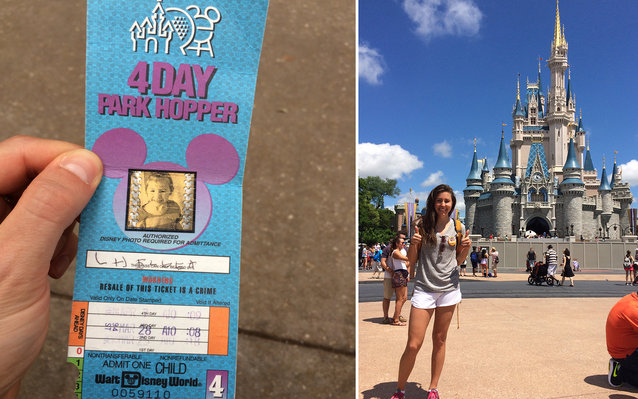 22-year-old disney park pass