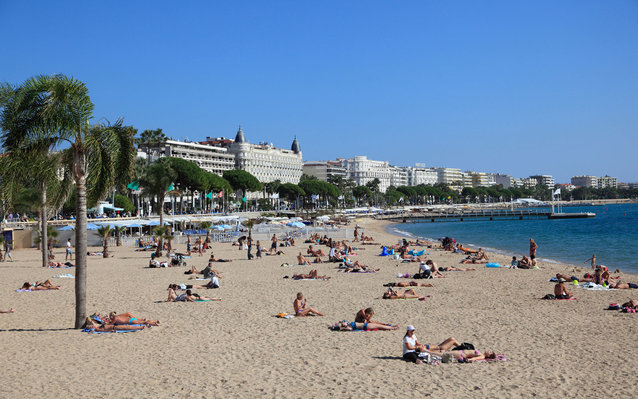 The beach in Cannes.