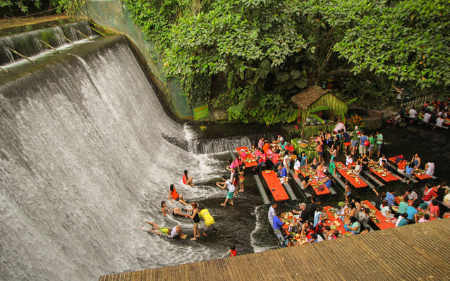 Labassin Waterfall Restaurant in the Philippines