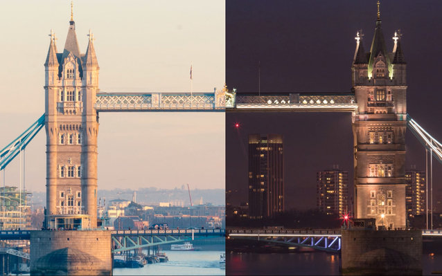London Day vs. Night video