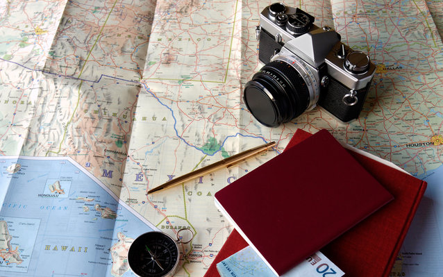 camera and maps