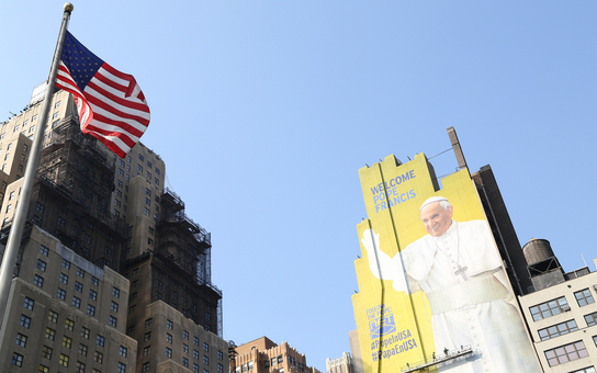 Pope billboard, NYC