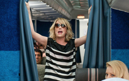 Bridesmaid Kristen Wig Drunk on a Plane