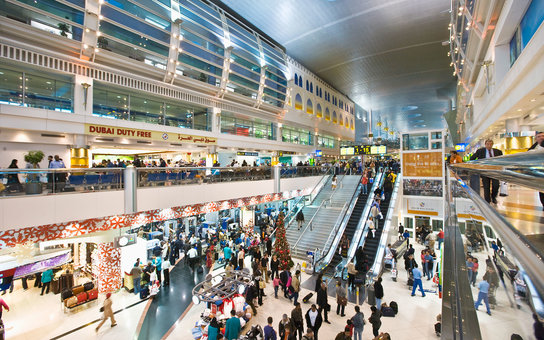 Dubai International Airport, the interior