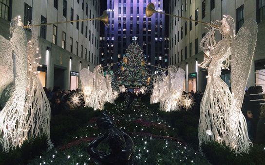 Christmas Travel Numbers Rockefeller Tree New York City
