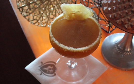 Condado Vanderbilt Hotel gingerbread man cocktail