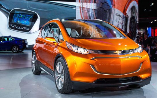 The Chevrolet Bolt EV concept vehicle makes its global debut Monday, January 12, 2015 at the North American International Auto Show in Detroit, Michigan. The Bolt EV concept is Chevrolet's vision for an affordable, long-range, all-electric vehicle designe